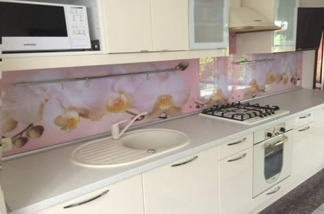 фартук для кухни из стекла фото каталог